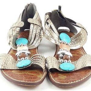 Sam Edelman Rhinestone T-Strap Gladiator Sandals
